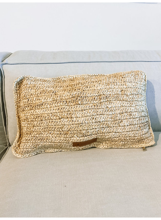 Cushion Menton rectangular -  50x 30 cm, palmblad