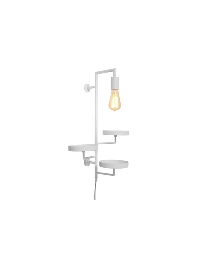 Wall lamp/3 plant holders Florence white