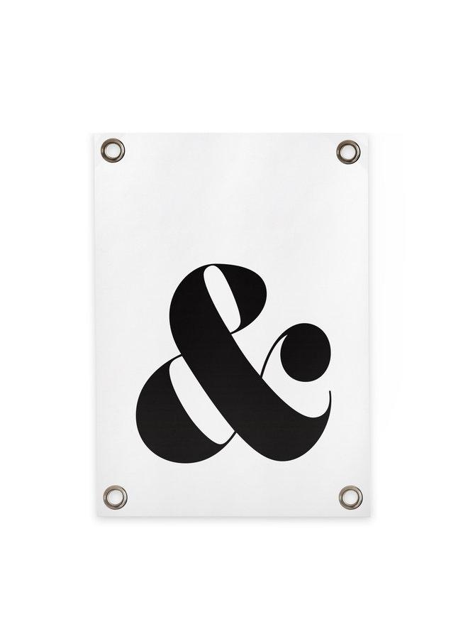 Tuinposter & teken wit/zwart 70x 100