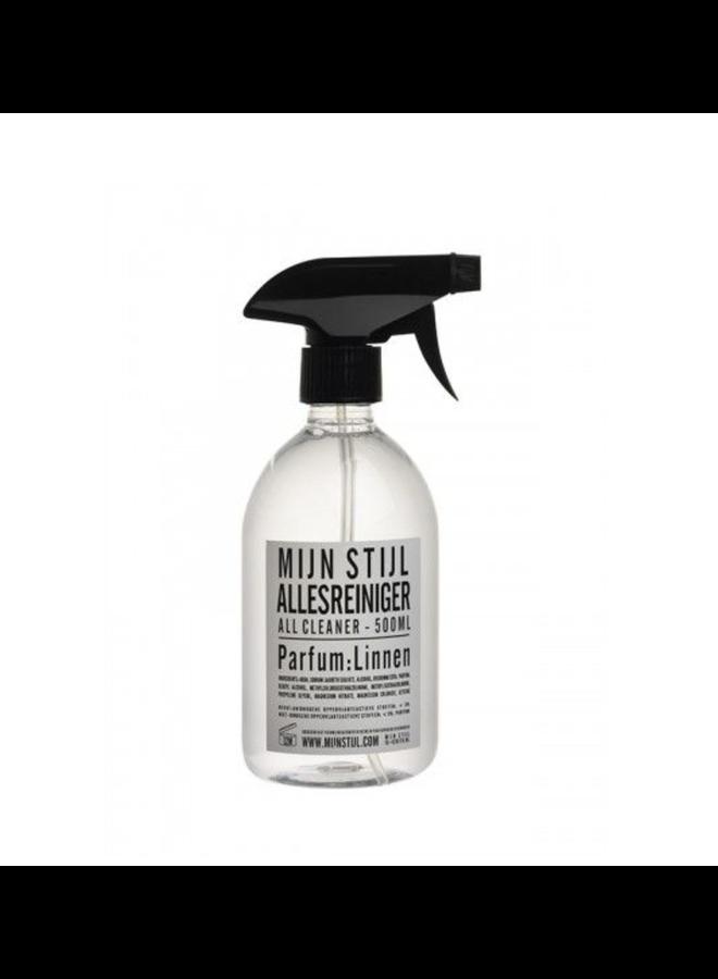 Allesreiniger 500 ml parfum Linnen wit/zwarte letters
