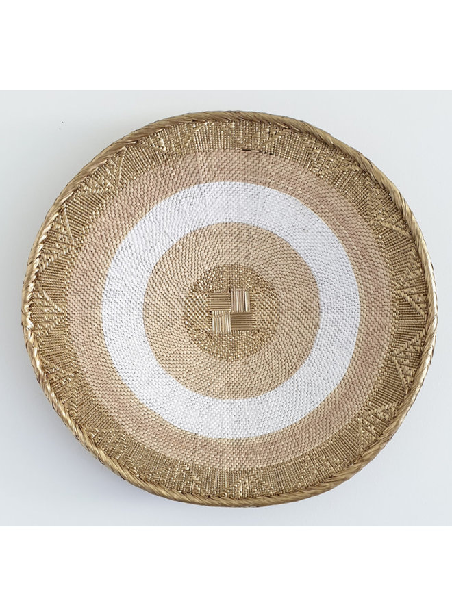 Tonga basket gold stripe large
