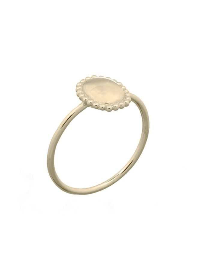 Ring goud - classy oval S/16 mm