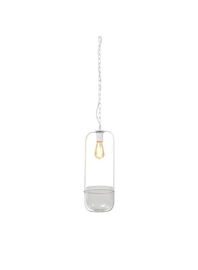 Hanging lamp/plant holder Florence white