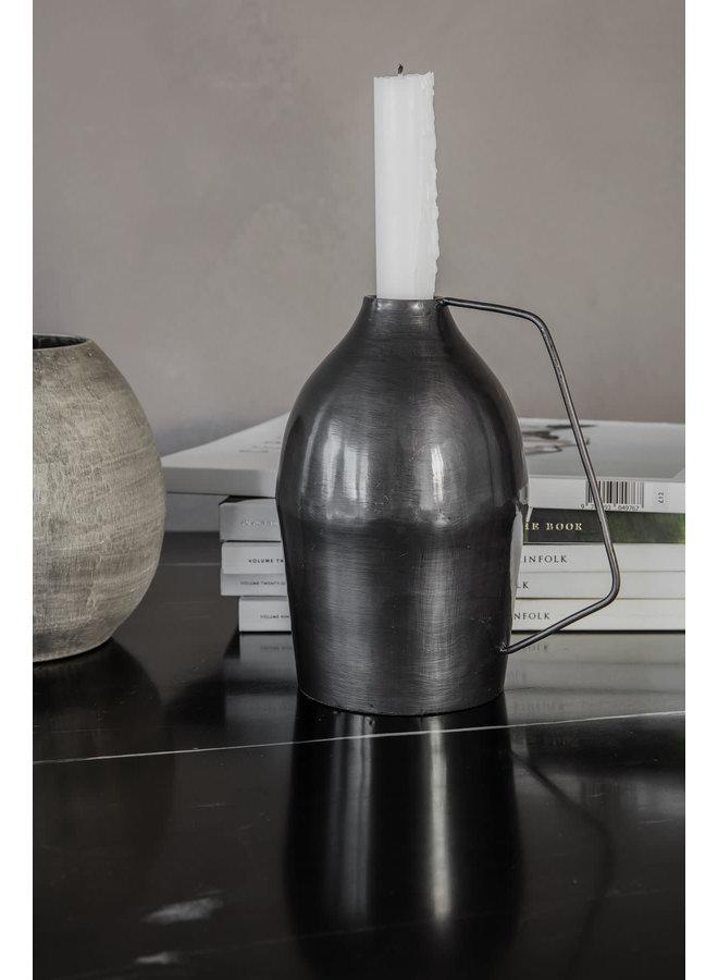 Candle stand, Vigi, Black oxidized