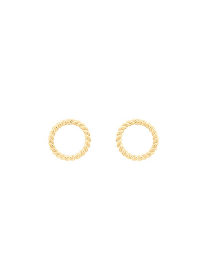 Oorbellen goud mini Circle