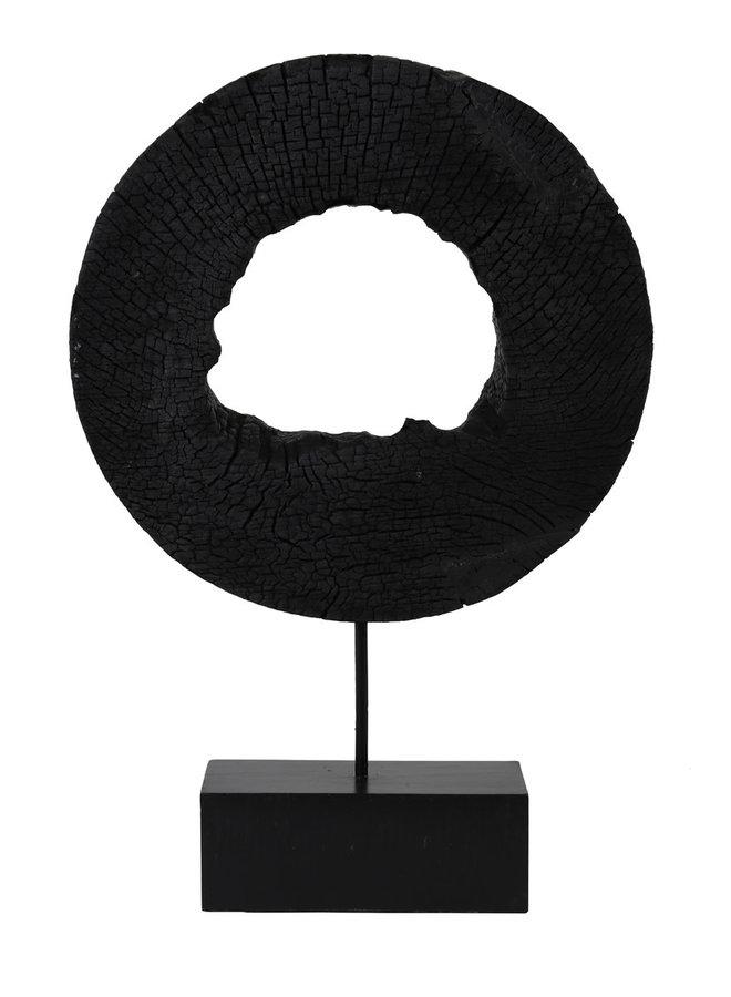Ornament op voet 35x10x53 cm XERRA hout zwart