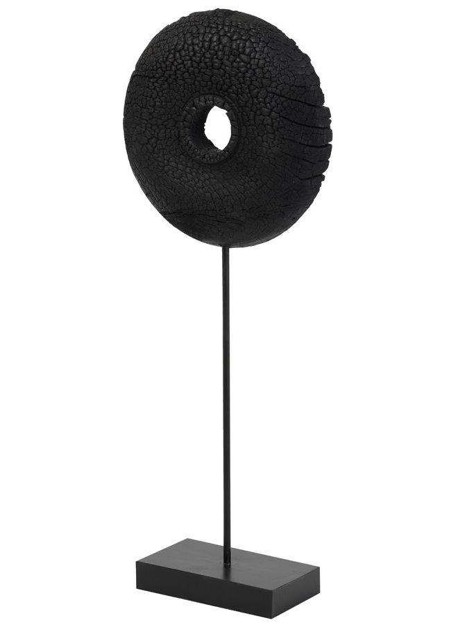 Ornament op voet 28x10,5x65,5 cm OLUMI hout zwart