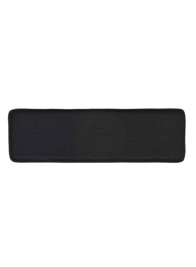 Schaal 47x15x1,5 cm BURLY mat zwart
