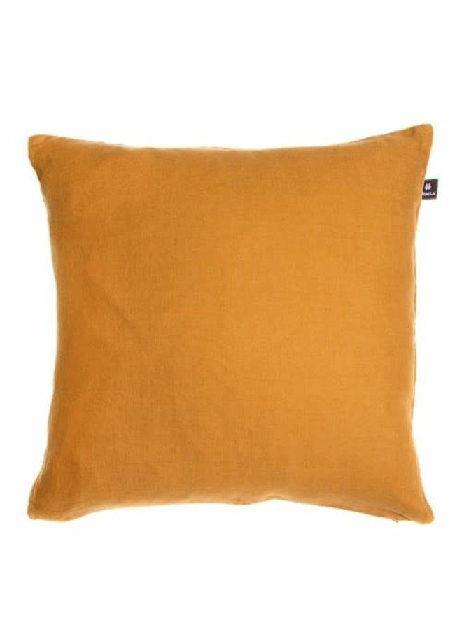 Sunshine 50x50 100% linnen amber