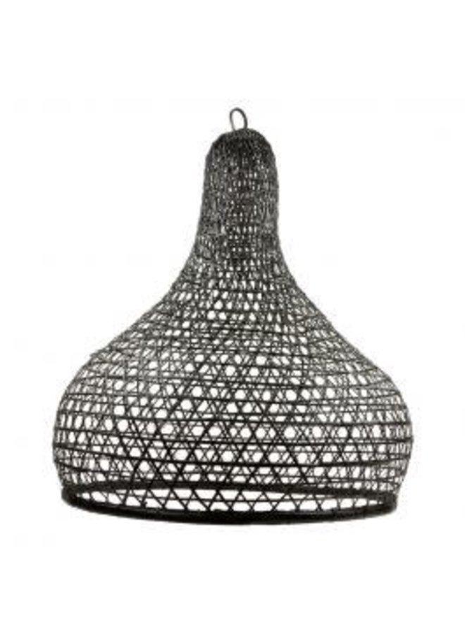 Lamp bamboe zwart Liz L