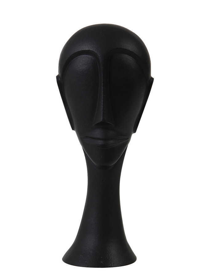 Ornament 11,5x10x28 cm HEAD zwart