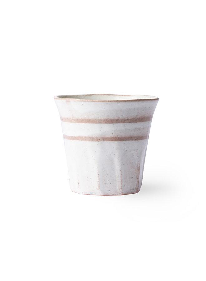 bold & basic ceramics: mug white/terra
