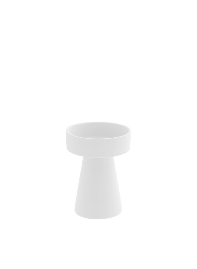 Talbo White small candle holder