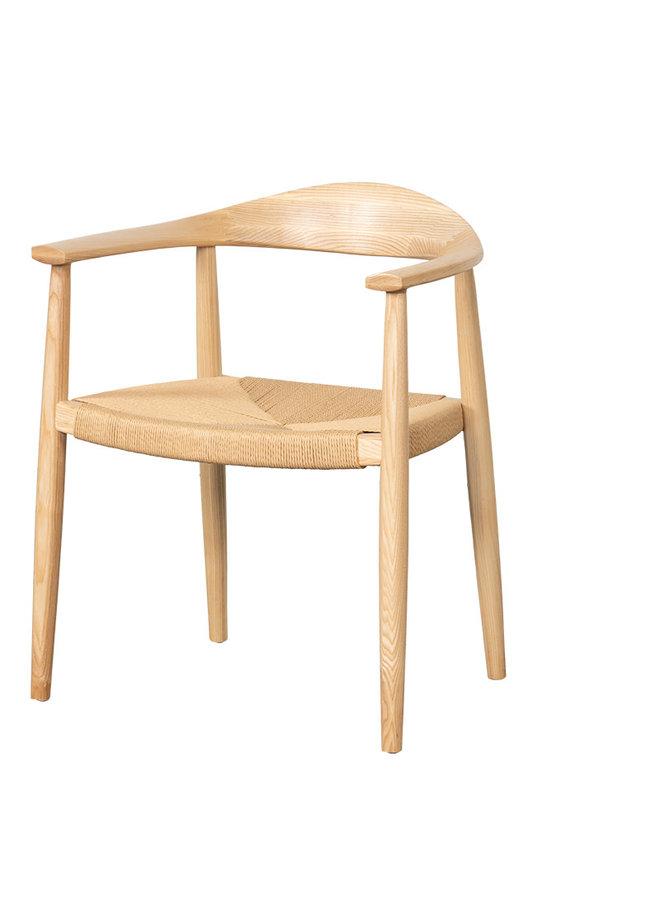 Franklin armchair naturelB-64/D-46/H-76