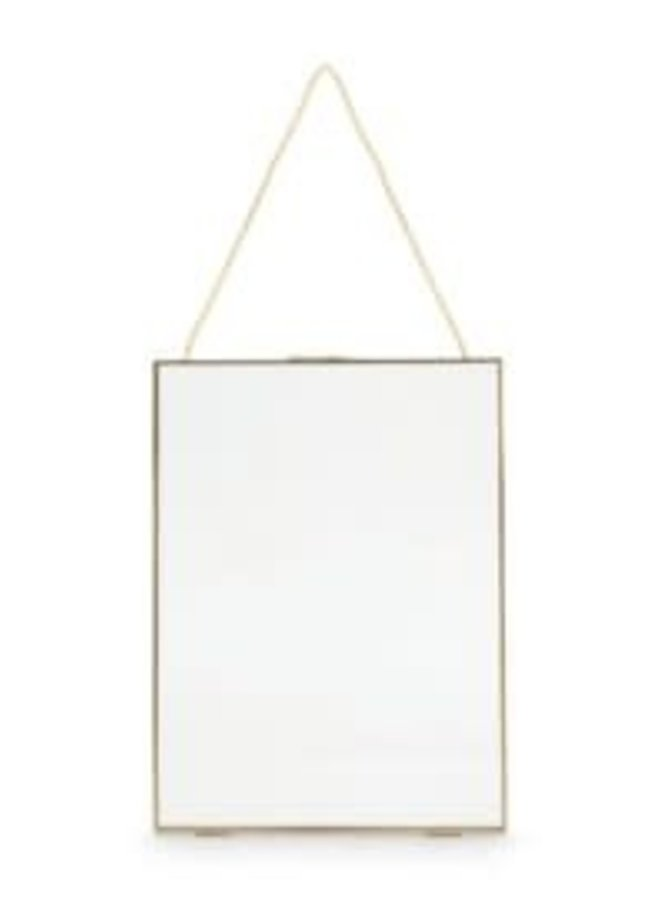 Photo Frame Metal with Lock Gold