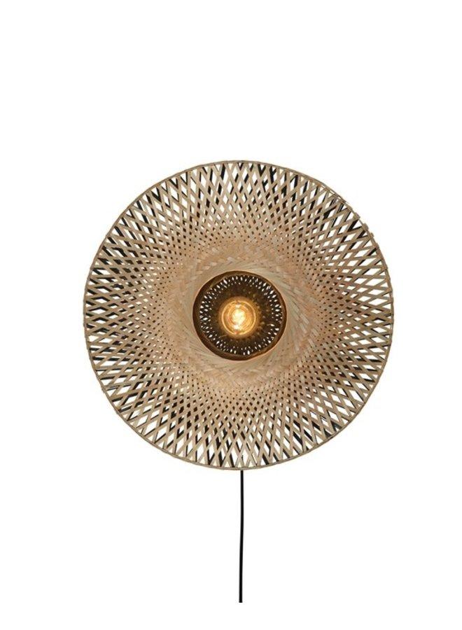 Wall lamp Kalimantan bamboo flat M