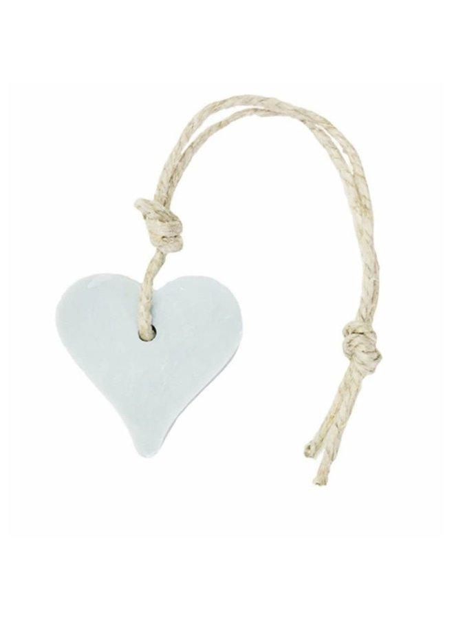Hanger hart 55 gram licht blauw parfum linnen