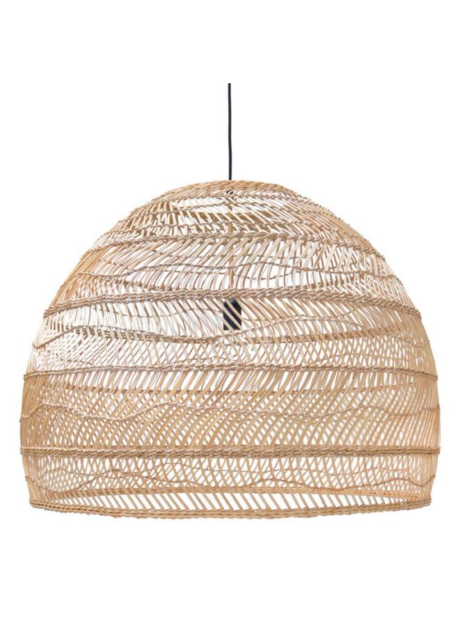 Wicker pendant lamp ball natural L