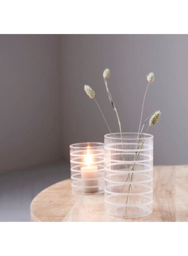 Tealight holder, Breeze, Clear