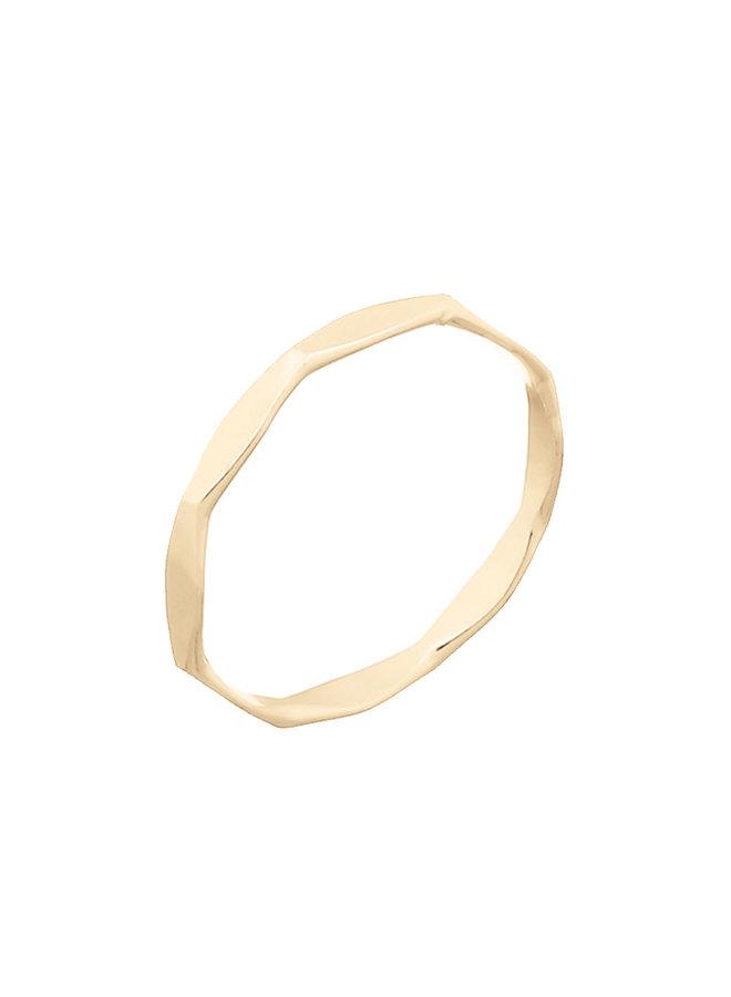 Ring goud - Weavy L/18 mm