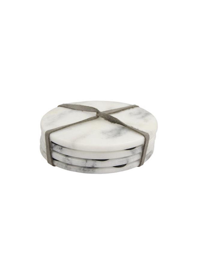 Marble coaster 4 white