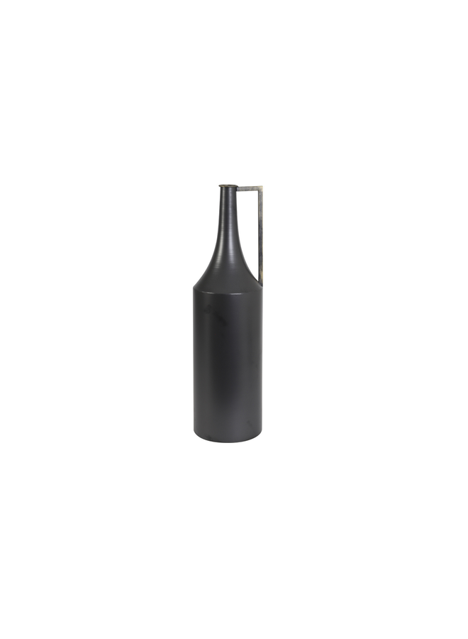 Vaas deco Ø20,5x75 cm MAMBA zwart