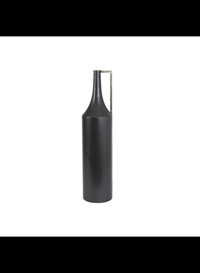 Vaas deco Ø17,5x50 cm MAMBO zwart