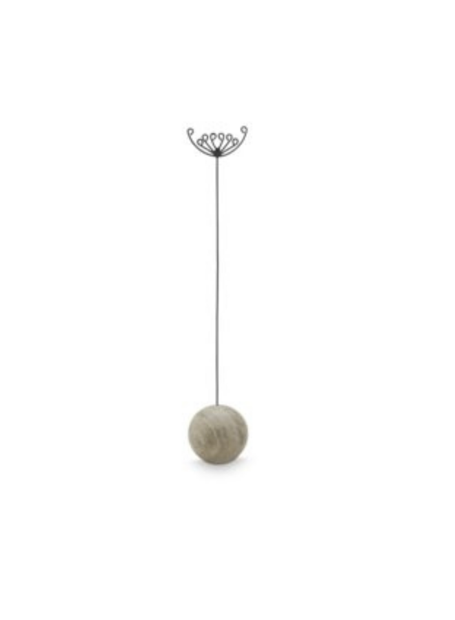 Twig Holder Ball Travertin Large