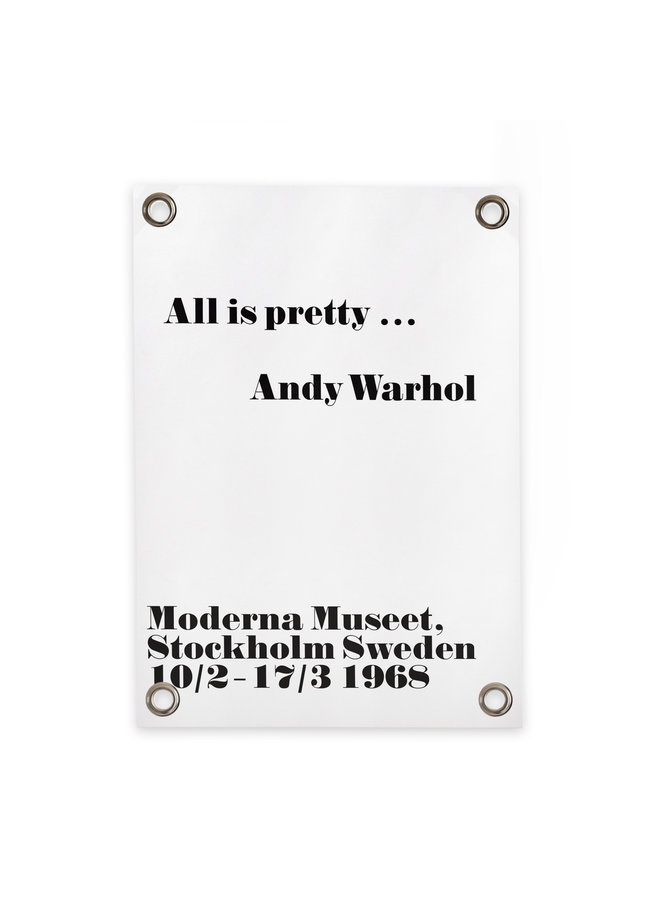 Tuinposter Andy Warhol - All is pretty 70x100cm