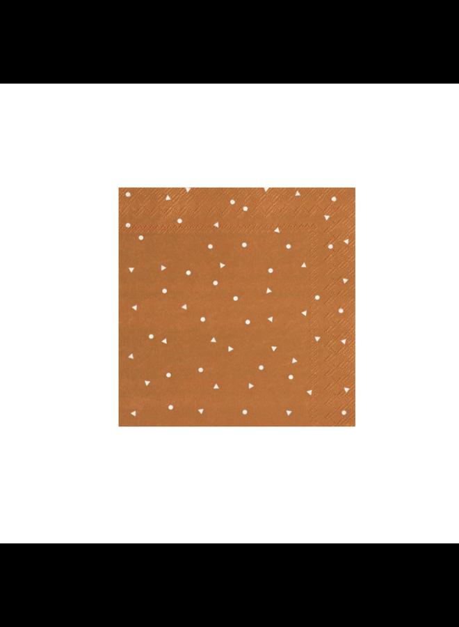 Cocktail napkin Happy day copper/white 25x25cm