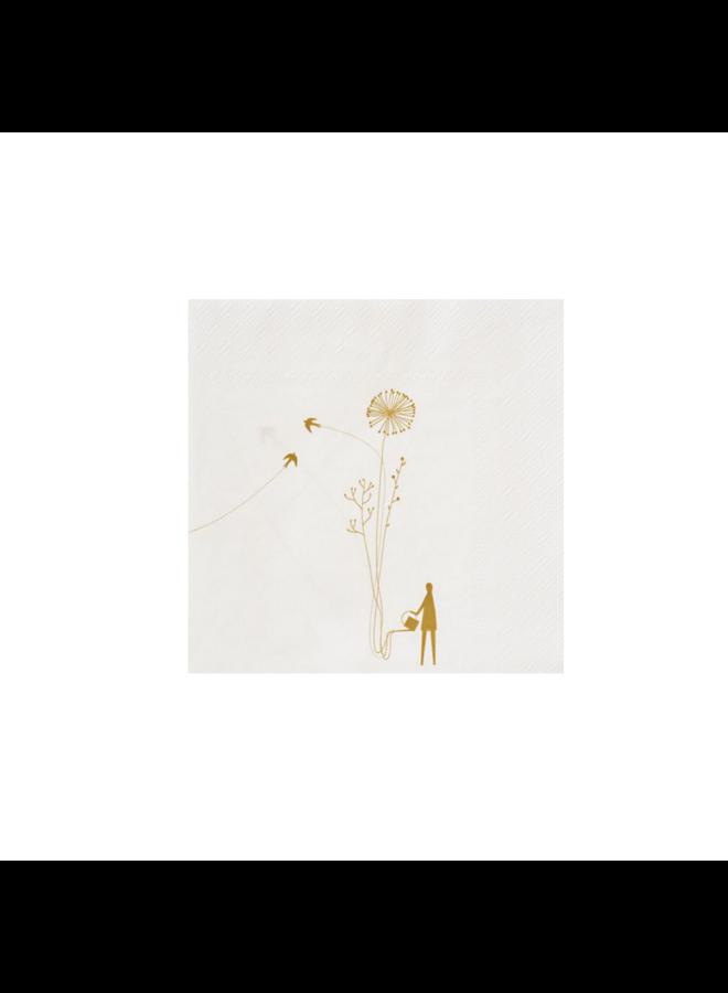 Napkin flowers 33x33cm