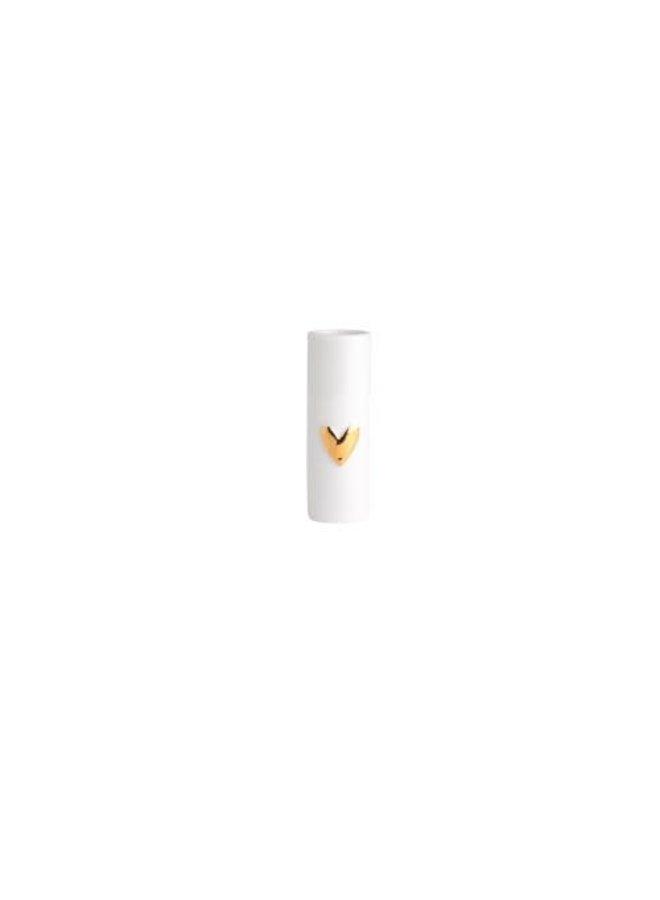 Mini vases heart  gold dia:3,5cm Height:9cm