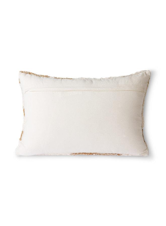 Fluffy Cushion White/Beige (35X55)