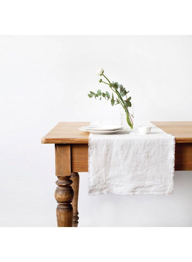 Linen Runner Michelle pure white 45x150