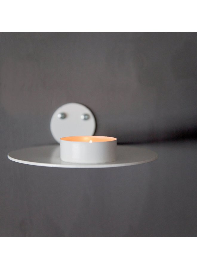 HOSSMO CANDLE HOLDER WALL WHITE