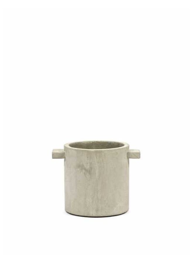 Pot beton rond naturel  D25 H25
