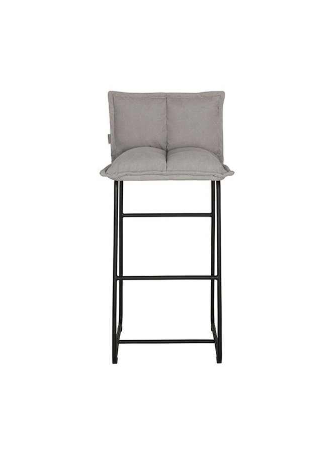 Bar chair Cloud - 103x50x53 cm, Stonewashed cotton grey