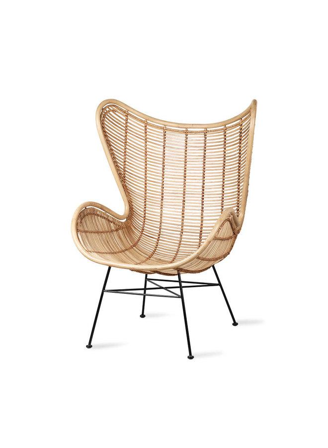 Rattan egg chair natural