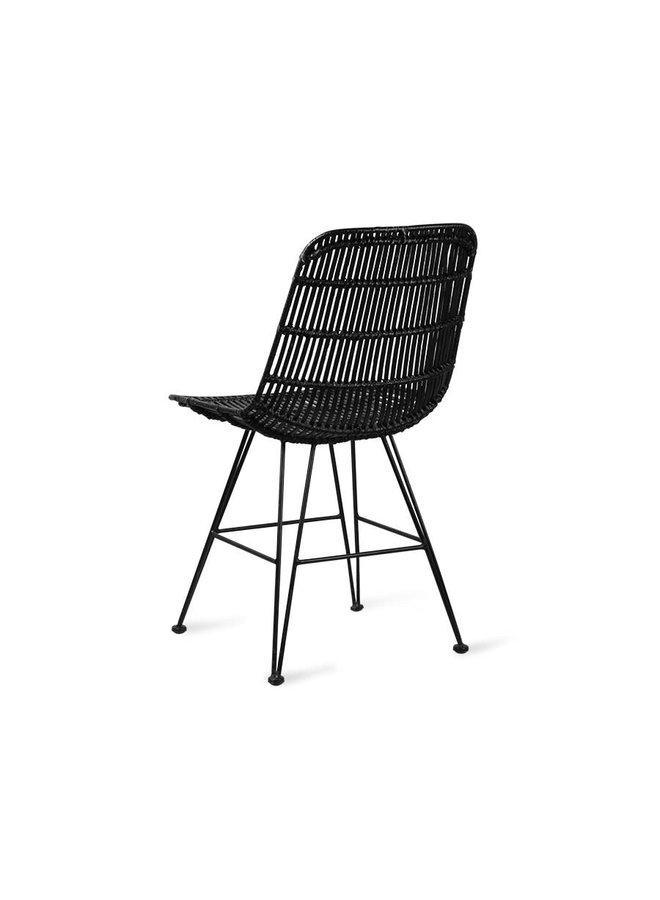 Rattan dining chair black SHOWMODEL