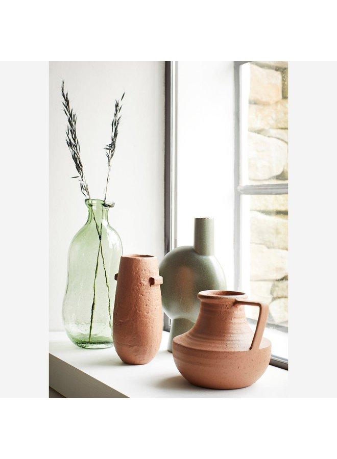 Stoneware vase D:10,5x24,5 cm