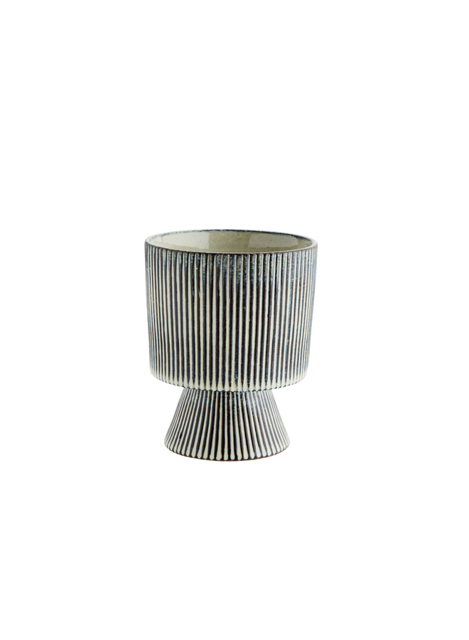 Striped flower pot D:13x15,5 cm