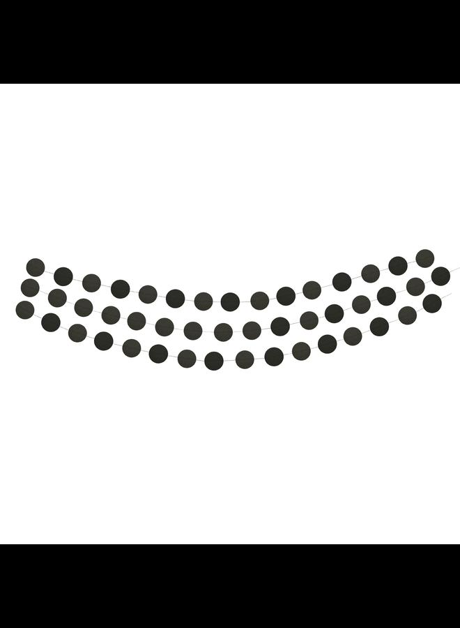 Papieren cirkelslinger zwart 3 m