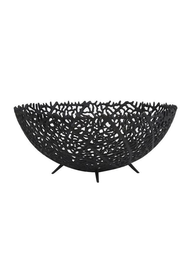Schaal Ø46x18 cm GALAXA mat zwart