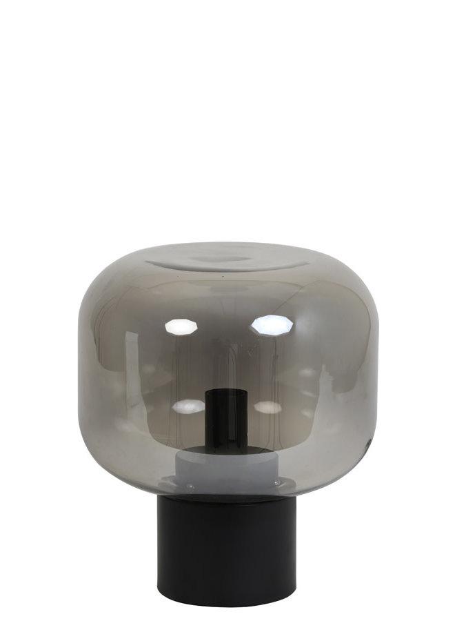 Tafellamp Ø29,5x33,5 cm ARTURAN glas smoke grijs+mat zwart