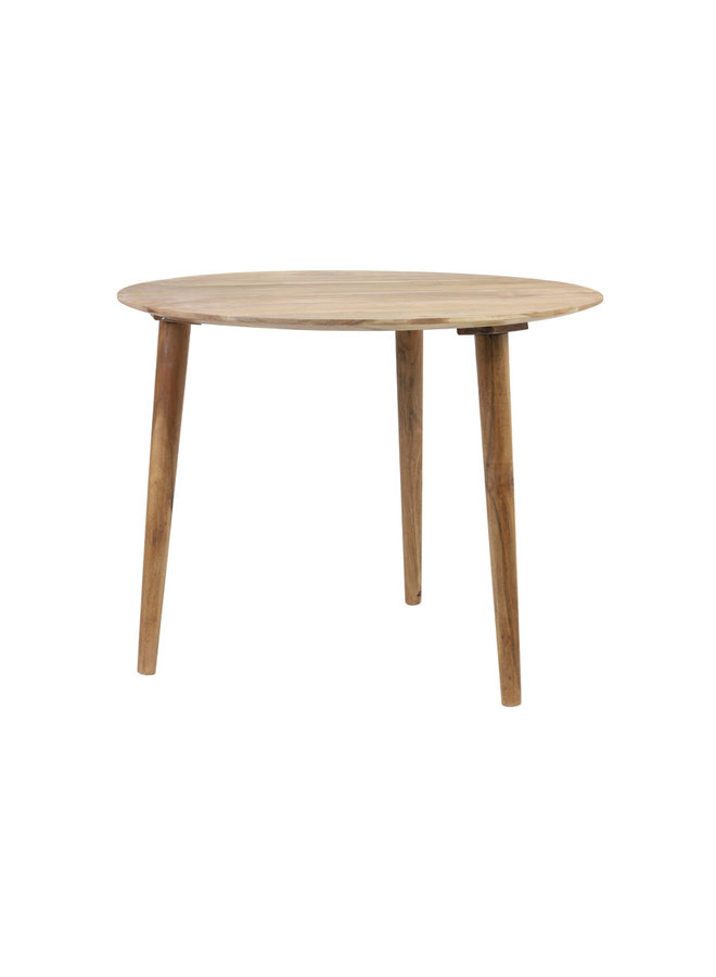 Bijzettafel Ø60x45 cm CHAKIR hout naturel