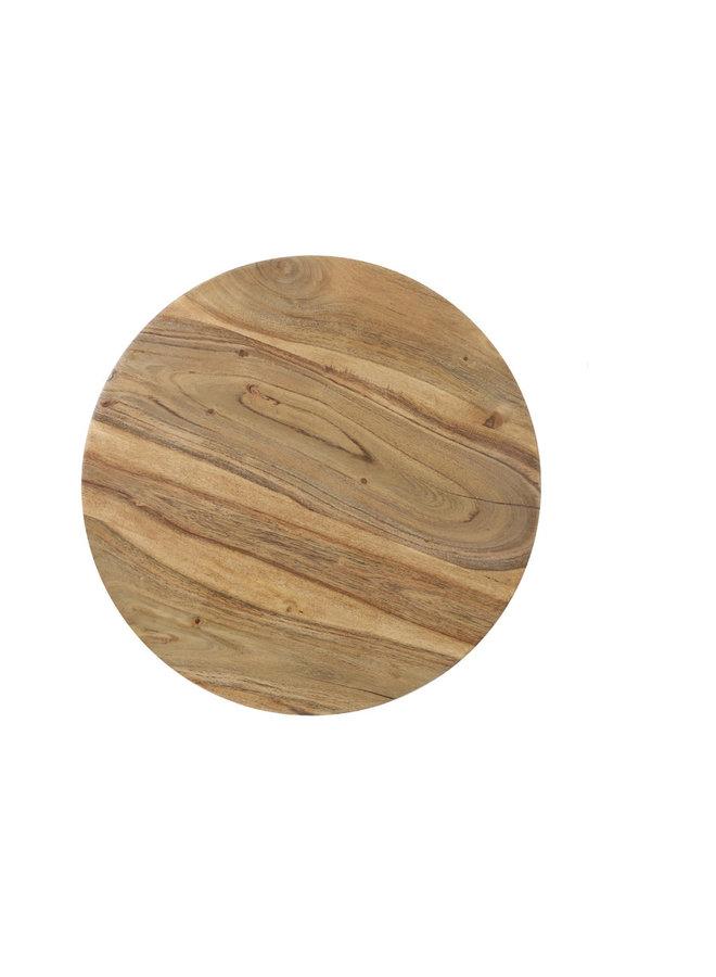 Bijzet tafel hout groot
