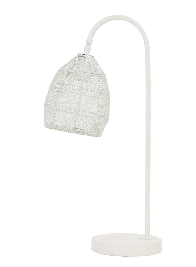 Tafellamp 23x18x60 cm MEYA mat wit