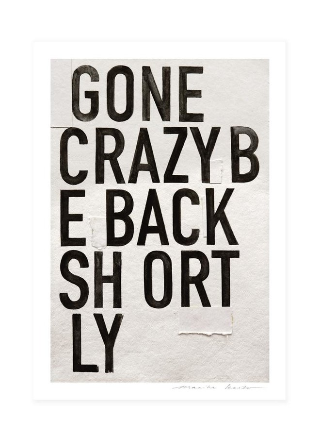 Gone crazy ||| 30x40 cm