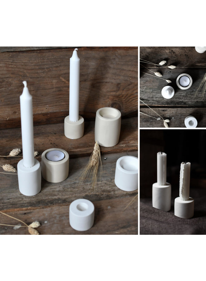 Lekvall - Small white candlestick