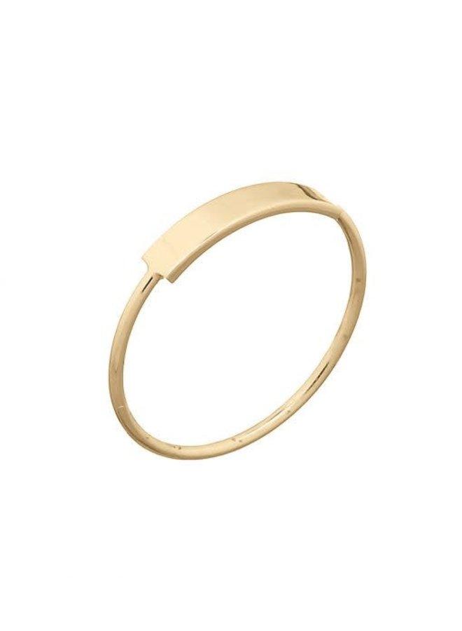 Ring goud - Bar ring L/18